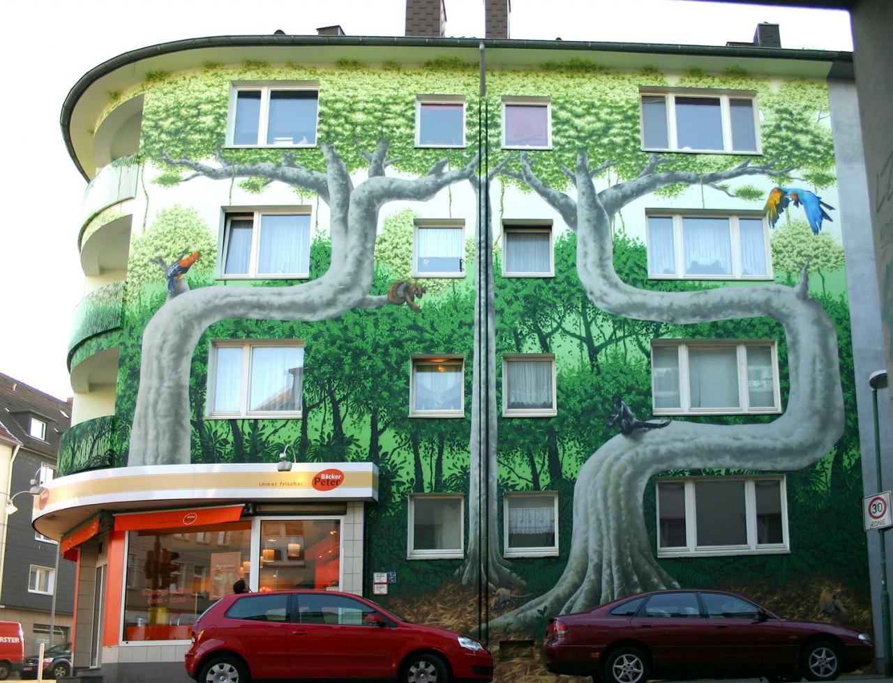 BEN MATHIS  Künstler I Artist Grüne Lunge, 2011, Essen, für rescue-amazonian-rain-forest.com