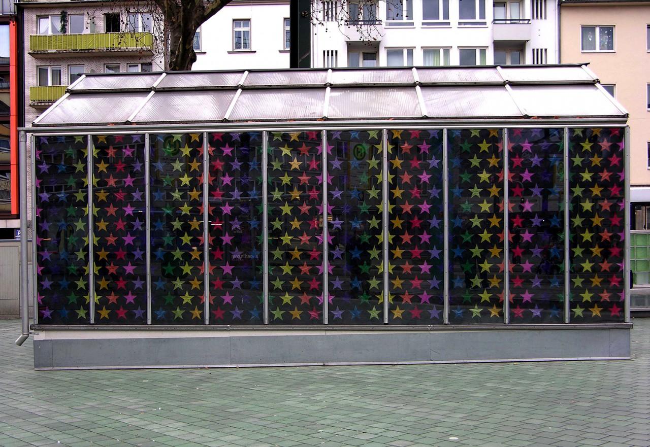 BEN MATHIS  Künstler I Artist Firmament#2, 2006, Glashaus am Worringer Platz, Düsseldorf